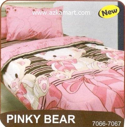 sprei My Love S3 Pinky Bear
