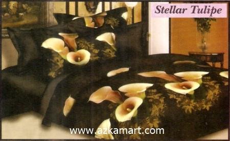 sprei full katun jepang murah Sprei Impression Stellar Tulipe