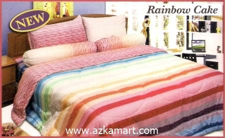 sprei full katun jepang murah Sprei Impression Rainbow Cake