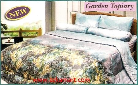 sprei full katun jepang murah Sprei Impression Garden Topiary