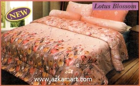 sprei full katun jepang murah Sprei Impression Lotus Blossom