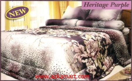 sprei full katun jepang murah Sprei Impression Heritage Purple