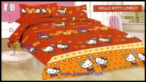 sprei bonita hello kitty play : sprei bedcover Grosir Online Sprei Murah