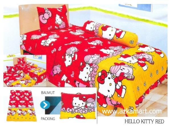 11-sprei-lady-rose-single-hello-kitty-red