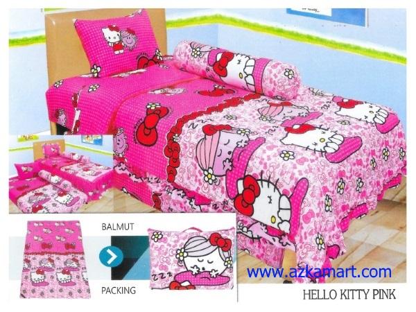 12-sprei-lady-rose-single-hello-kitty-pink