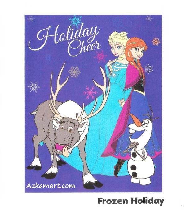 jual selimut internal karakter anak frozen holiday