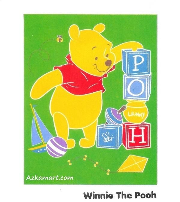 jual selimut internal karakter anak winnie the pooh