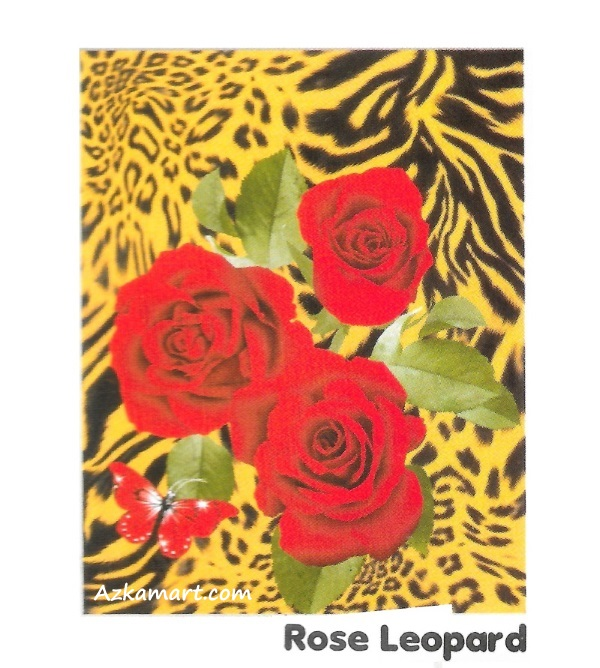 jual selimut internal murah motif bunga mawar leopard