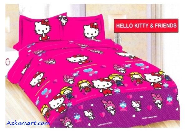 jual sprei bonita motif karakter anak hello kitty friend