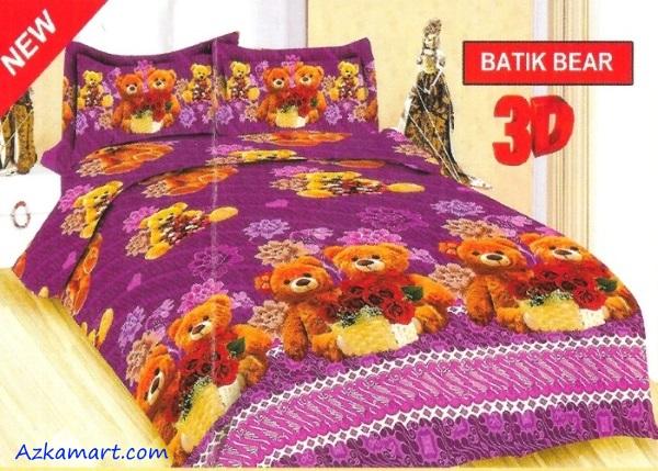jual sprei bonita motif karakter anak batik bear