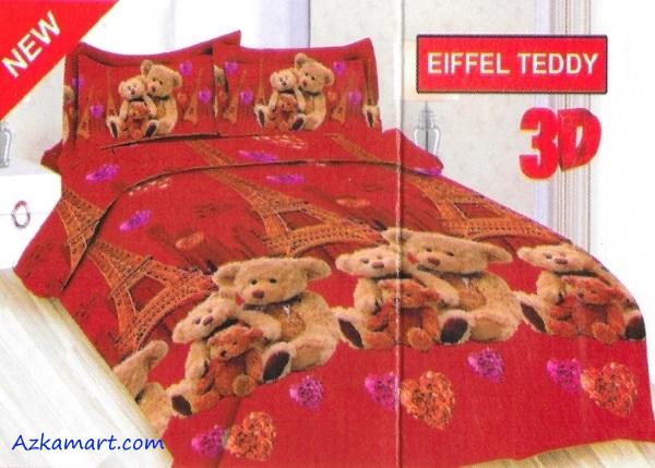 jual sprei bonita motif karakter anak eiffle teddy