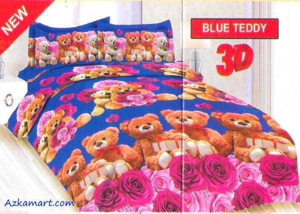 jual sprei bonita motif karakter anak blue teddy