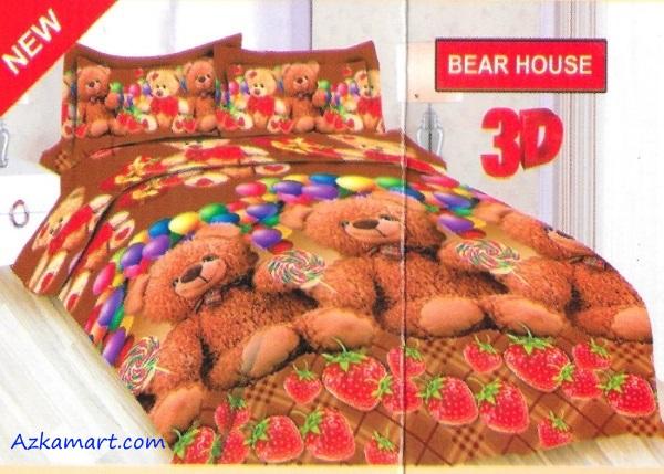 jual sprei bonita motif karakter anak bear house