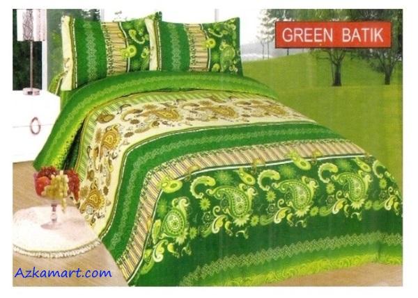 jual sprei bonita terbaru harga murah motif green batik
