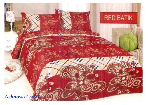 jual sprei bonita terbaru harga murah motif red batik