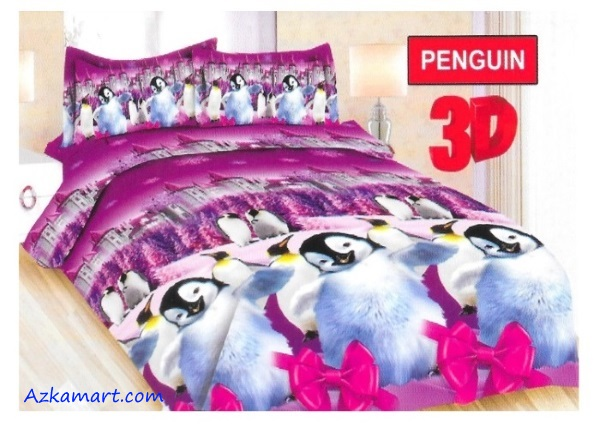 sprei bonita dan bedcover terbaru motif penguin