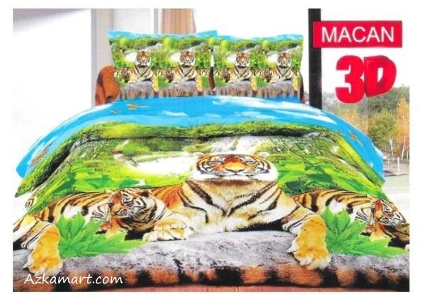 sprei bonita dan bedcover terbaru motif macan