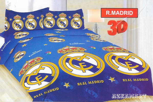 sprei anak single bonita motif bola madrid