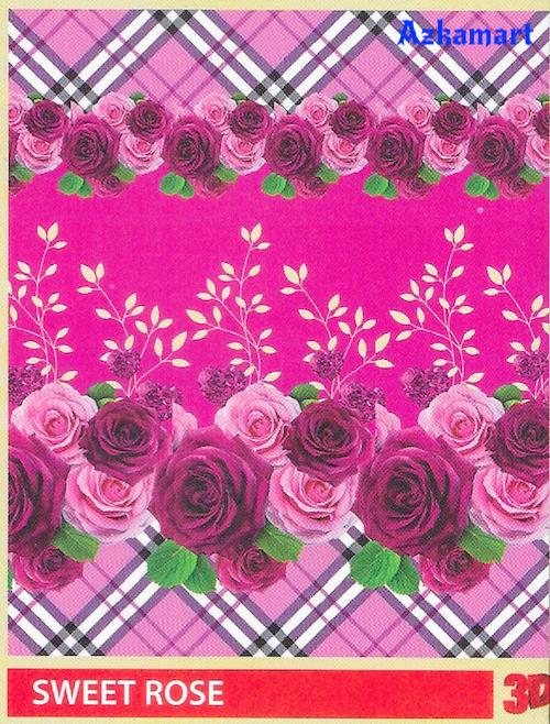 selimut bulu halus lembut paulina by bonita motif sweet rose