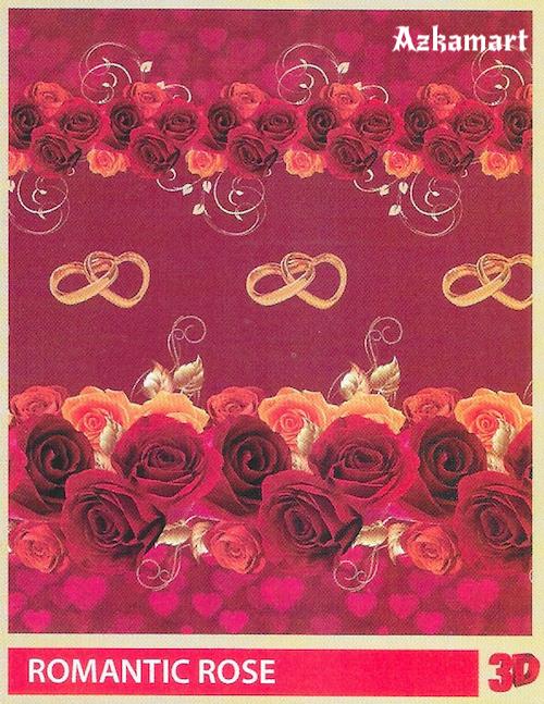 selimut bulu halus lembut paulina by bonita motif romantic rose
