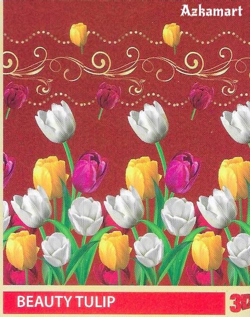 selimut bulu halus lembut paulina by bonita motif tulip