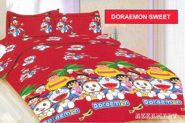 jual beli sprei anak bonita terbaru motif karakter doraemon sweet