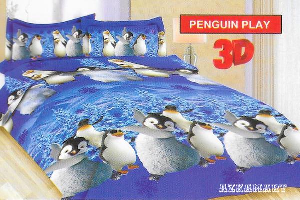 jual beli sprei anak bonita terbaru motif karakter penguin play