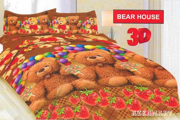 jual beli sprei anak bonita terbaru motif karakter bear house