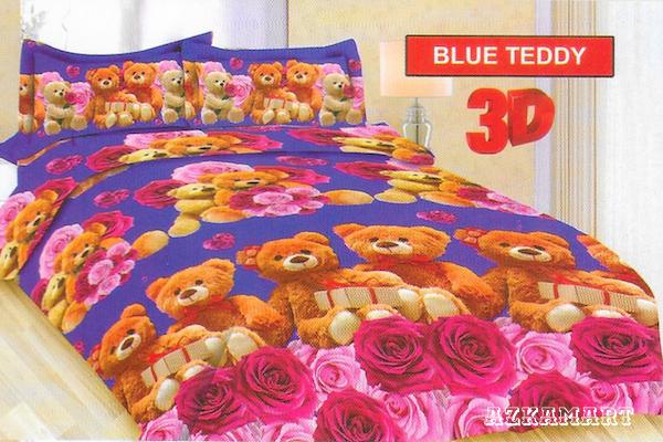 jual beli sprei anak bonita terbaru motif karakter blue teddy