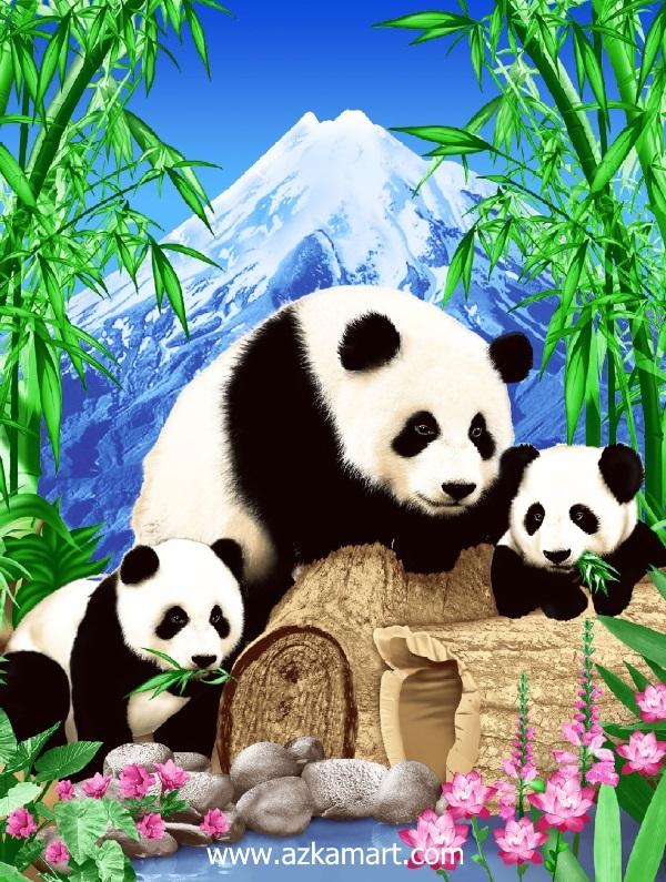 jual beli selimut bulu halus lembut rosanna gambar panda
