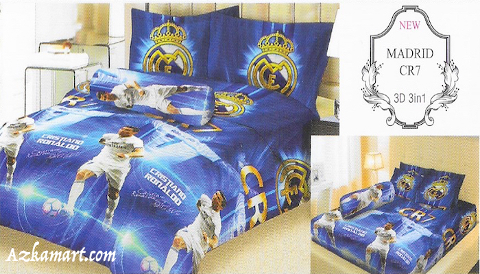 jual sprei lady rose gambar klub bola real madrid