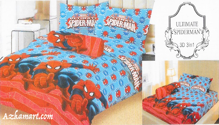 sprei lady rose grosir murah gambar karakter spiderman