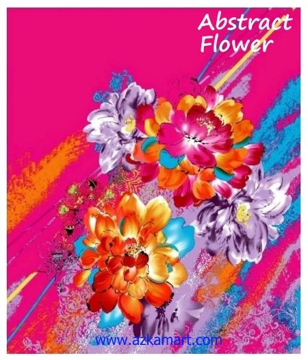 jual beli selimut rosanna king sutra panel gambar flower