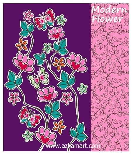 jual beli selimut rosanna king sutra panel gambar bunga modern