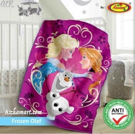 jual selimut bayi kbt rosanna vito gambar frozen olaf