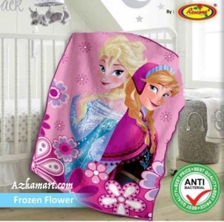 jual selimut bayi kbt rosanna vito gambar frozen bunga