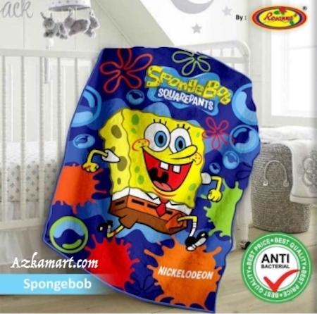 jual selimut bayi kbt rosanna vito gambar spongebob